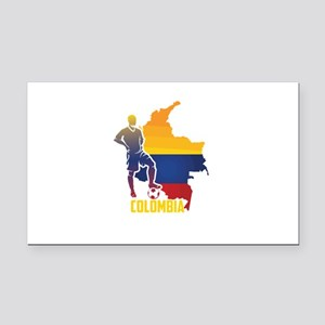 Football Worldcup Colombia Co Rectangle Car Magnet