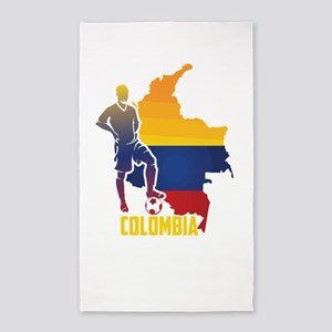 Football Worldcup Colombia Colombians Soc Area Rug