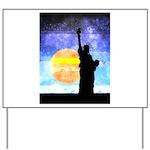 Majestic Lady Liberty Yard Sign