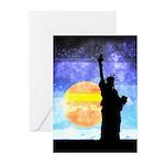 Majestic Lady Liberty Greeting Cards