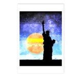 Majestic Lady Liberty Postcards (Package of 8)