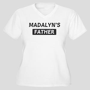 Madalyns Father Women's Plus Size V-Neck T-Shirt