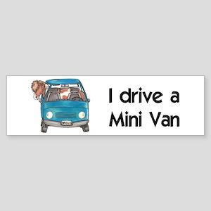 Drive Mini Van Bumper Sticker