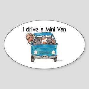 Drive Mini Van Oval Sticker