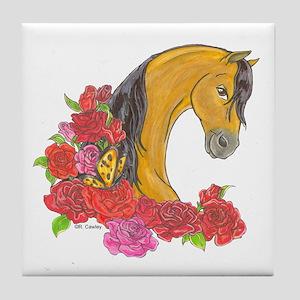 Buckskin Roses Tile Coaster