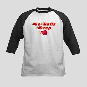 Dodgeball - Go Balls Deep Kids Baseball Jersey