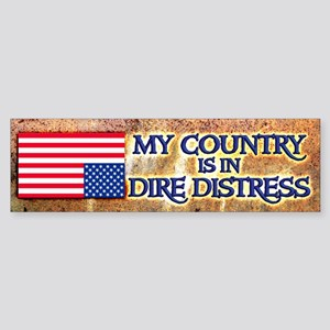 Dire Distress Bumper Sticker