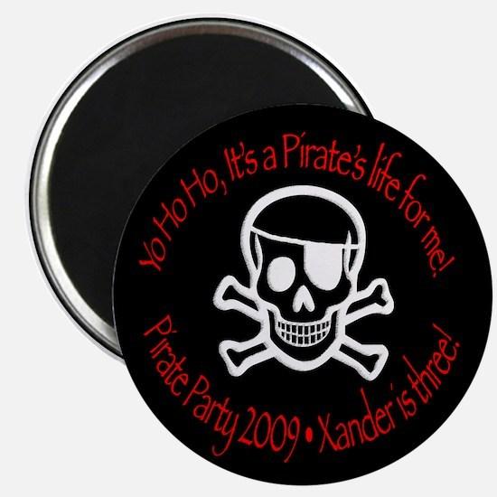 "Xander's Pirate Birthday 2.25"" Magnet (10 pac"