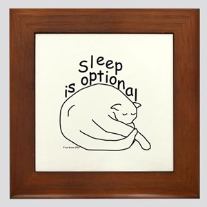 Sleep is Optional Framed Tile
