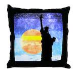 Majestic Lady Liberty Throw Pillow