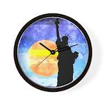 Majestic Lady Liberty Wall Clock