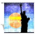 Majestic Lady Liberty Shower Curtain