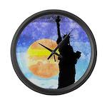 Majestic Lady Liberty Large Wall Clock