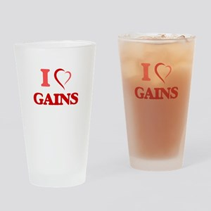 I love Gains Drinking Glass