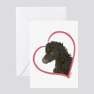 Dark Horse Heartline Greeting Card