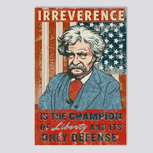Mark Twain Irreverence Postcards (Package of 8)