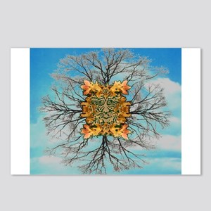 Green Man Smiley Postcards (Package of 8)