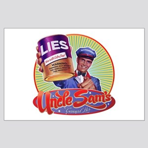Uncle Sam's Canned Lies Large Poster