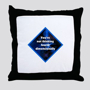 4th Dimensionally Throw Pillow