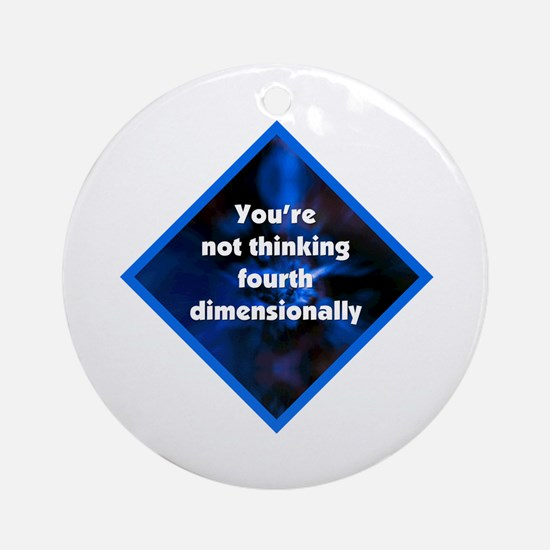4th Dimensionally Ornament (Round)