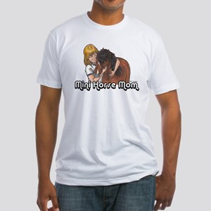 Mini Horse Mom Fitted T-Shirt