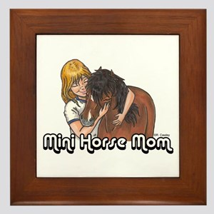 Mini Horse Mom Framed Tile