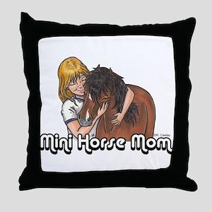 Mini Horse Mom Throw Pillow
