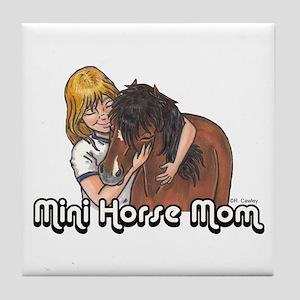 Mini Horse Mom Tile Coaster
