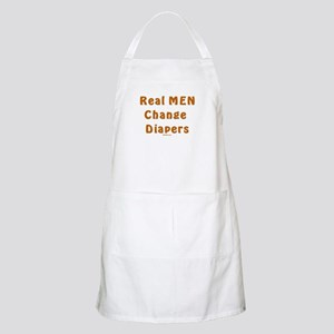 Real Men Change Diapers Dad BBQ Apron