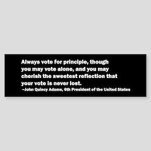 John Quincy Adams Quote Bumper Sticker