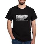 John Quincy Adams Quote Dark T-Shirt