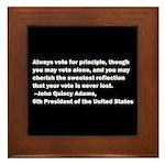 John Quincy Adams Quote Framed Tile
