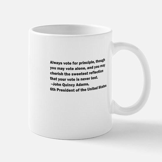 John Quincy Adams Quote Mug