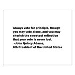 John Quincy Adams Quote Small Poster