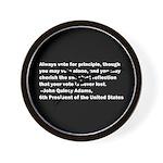 John Quincy Adams Quote Wall Clock