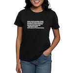 John Quincy Adams Quote Women's Dark T-Shirt