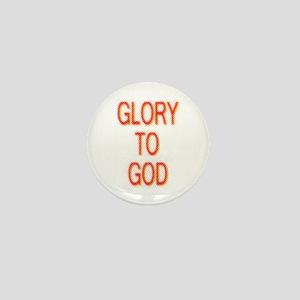 Glory to God Mini Button