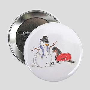 "Snowman Treat 2.25"" Button"
