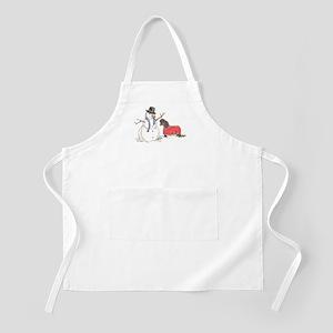 Snowman Treat BBQ Apron