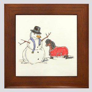Snowman Treat Framed Tile
