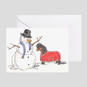 Snowman Treat Greeting Card