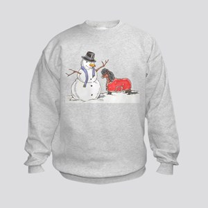 Snowman Treat Kids Sweatshirt