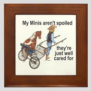 Minis Aren't Spoiled Framed Tile