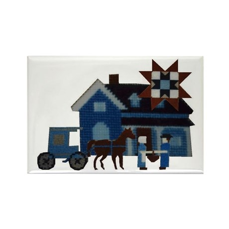 Amish People Rectangle Magnet