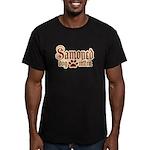 Samoyed Mom Men's Fitted T-Shirt (dark)