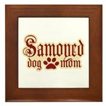Samoyed Mom Framed Tile