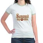 Samoyed Mom Jr. Ringer T-Shirt
