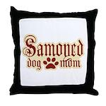 Samoyed Mom Throw Pillow