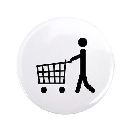 """shopping cart icon 3.5"""" Button"""