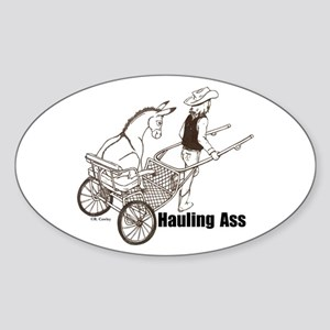 Hauling A Oval Sticker
